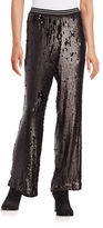 Free People Sequined Wide-Leg Pants