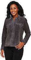 Denim & Co. Washable Suede Jean Style Jacket