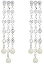 Lauren Ralph Lauren Glass Pearl Chandelier Drop Earrings (Silver) Earring