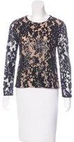 Diane von Furstenberg Belle Embellished Blouse w/ Tags