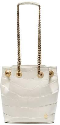Stalvey White jessica Mini alligator bucket bag