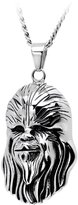 Star Wars Licensed Stainless Steel Curb Chain 3D Chewbacca Pendant Necklace 22 Inches