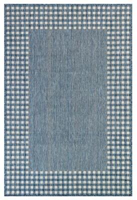 "Liora Manné Gracie Oaks Ryleigh Flatweave Navy Area Rug Gracie Oaks Rug Size: Rectangle 7'10"" x 9'10"""
