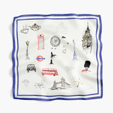 J.Crew Italian silk square scarf in London print