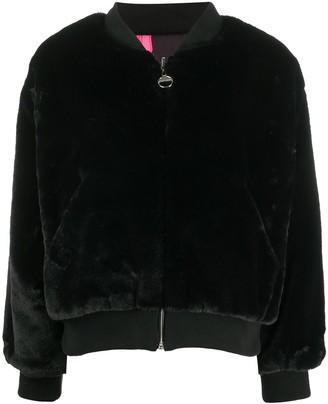 Chiara Ferragni Textured Bomber Jacket