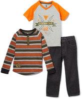 Rocawear Puffin Orange Henley, Raglan & Straight-Let Jeans Set - Toddler & Boys