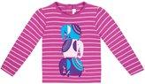 Jo-Jo JoJo Maman Bebe Elephant Top (Toddler/Kid) - Raspberry/Pink Stripe-3-4 Years