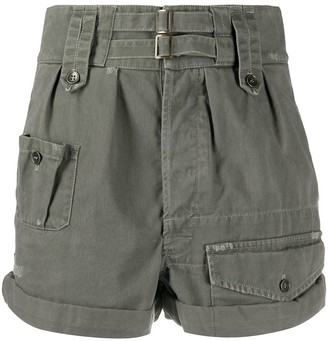 Saint Laurent High-Waisted Cargo Shorts