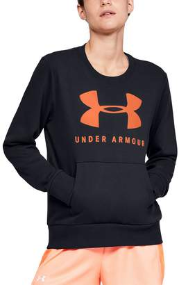 Under Armour Women's Rival Fleece Crewneck Graphic Tee