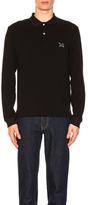 Calvin Klein Cotton Pique Polo in Black.
