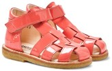 Angulus Coral Pink Patent Sandals