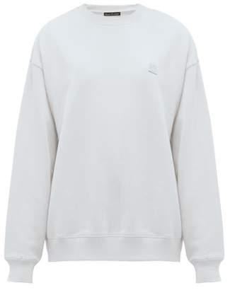 Acne Studios Fairview Face Cotton Sweatshirt - Womens - Light Blue