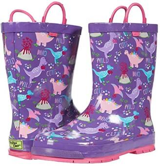 Western Chief Dino Rain Boots (Toddler/Little Kid/Big Kid) (Purple) Girls Shoes