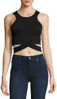 Cheap Monday Material Cutout-Hem Cropped Tank, Black