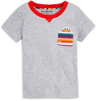 Sesame Street Isaac Mizrahi Loves Unisex Elmo Pocket Tee, Baby, Little Kid - 100% Exclusive