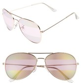 BP Women's 56Mm Two-Tone Aviator Sunglasses - Gold/ Rose Gold