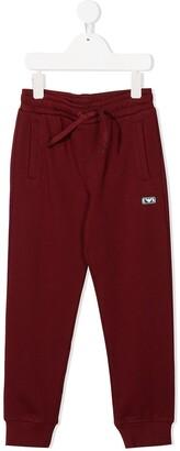 Emporio Armani Kids Logo Patch Track Trousers
