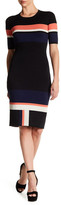 Rachel Roy Striped Knit Bodycon Dress