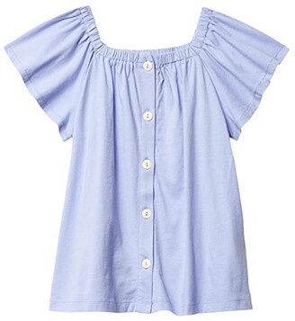 crewcuts by J.Crew Eliza Top (Toddler/Little Kids/Big Kids) (French Blue) Girl's Clothing