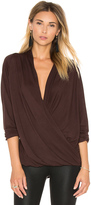 David Lerner Criss Cross Wrap Tee