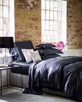 House of Fraser Gingerlily Charcoal Silk KingSuperking Flat Sheet