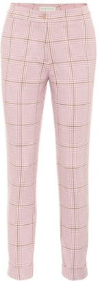 Etro Check cotton and wool slim pants