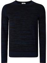 J. Lindeberg Oliver Crew Neck Knitted Jumper, Mid Blue