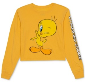 Warner Brothers Juniors' Tweety Long-Sleeve T-Shirt