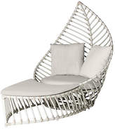David Francis Furniture Palm Outdoor Chair & Ottoman Set - White