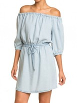 Splendid Chambray Off Shoulder Dress