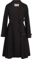 Max Mara Pleated Shell Trench Coat - Black