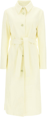 Drome TRENCH RAINCOAT IN CROCODILE PRINT LEATHER M Yellow Leather