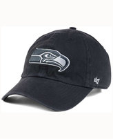 '47 Seattle Seahawks Charcoal White Clean Up Cap