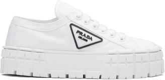 Prada Triangular Logo Plaque Sneakers