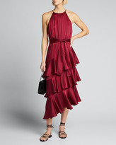 Zimmermann Tiered Silk Picnic Midi Dress