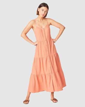 French Connection Women's Dresses - Cotton Crinkle Tiered Dress - Size One Size, 8 at The Iconic