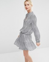 Gestuz Tacel Printed Dress with Flippy Skirt