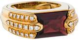 Audemars Piguet 18K Garnet & Diamond Ring