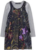 Desigual 2 In 1 Dress With Shine-In-The-Dark Print