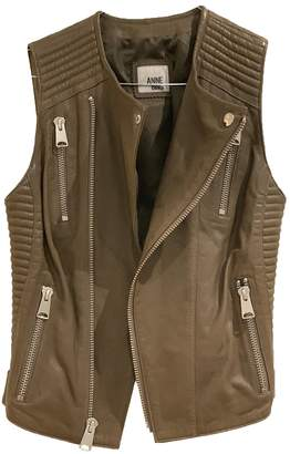 Anine Bing Green Leather Jacket for Women