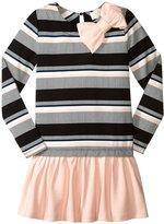 Kate Spade Stripe Dress (Toddler/Kid) - Bay Stripe - 5