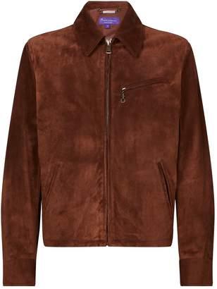 Ralph Lauren Purple Label Suede Collared Jacket