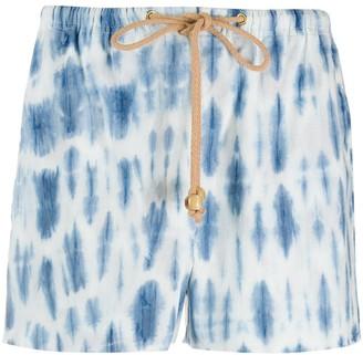 Nanushka tie dye print shorts