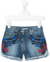 Ermanno Scervino embroidered denim shorts