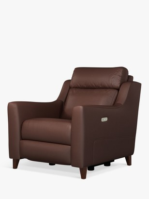 John Lewis & Partners Elevate Power Recliner Leather Armchair, Dark Leg