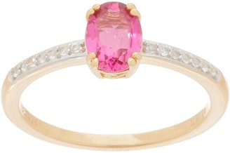 14K Gold Plated Exotic Gemstone Ring, 0.75 cttw