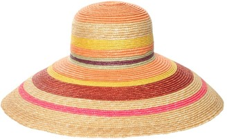 Missoni Striped Wide Brim Straw Hat
