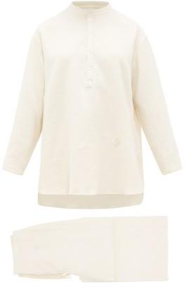 Jil Sander Brushed Cotton-twill Pyjamas - Cream