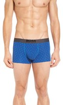 BOSS Men's Overprint Stretch Cotton Boxer Briefs