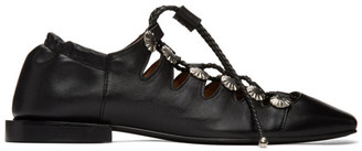 Toga Pulla Black Studded Lace-Up Oxfords